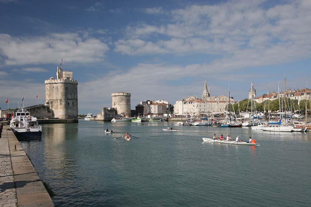 La Rochelle - l'entrée du vieux port